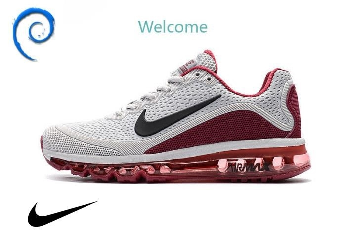 NIKE AIR MA sNORunning Trainers Shoes Grey red Accumulate Men\s Shoes wine / ACDEJLSYZ7
