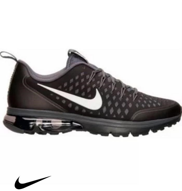 NEW Nike Banausic Air Max Supreme Running Shoes Black White Shoes Gre Bolack Mens EGHLPST026