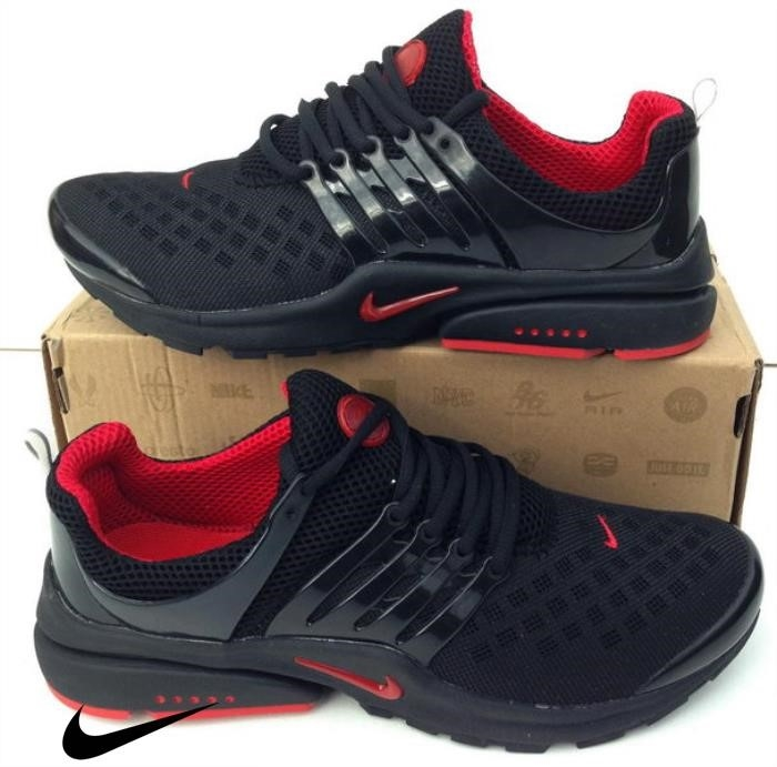 Nike Air Encouraged Presto Black / Red Trainers Shoes Shox Black t Mens -s Shoes DGIJLRTY17