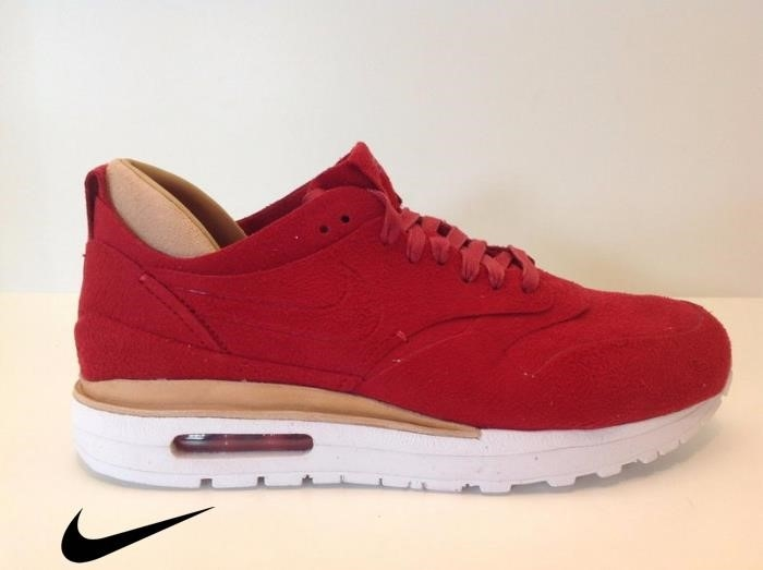 Nike Merely Air Max Royal Red / White New in Box NO Top Li Mens Gym Shoes White Red-Summit Red/Gym DEGMPSX147