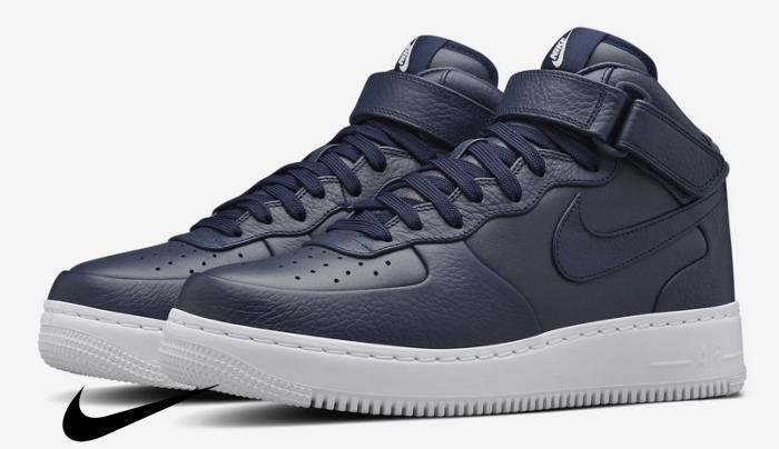NikeLab Air Force Mid Nike Blue / White or Fast Mens Shoes Wo Ships Adequately IJLMSW3679